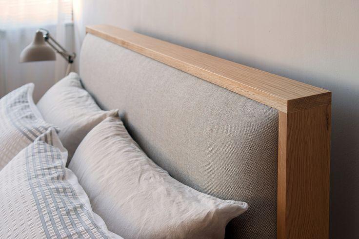 Shetland Bed - headboard detail - http://www.naturalbedcompany.co.uk/shop/classic-beds/shetland-padded-headboard-bed/