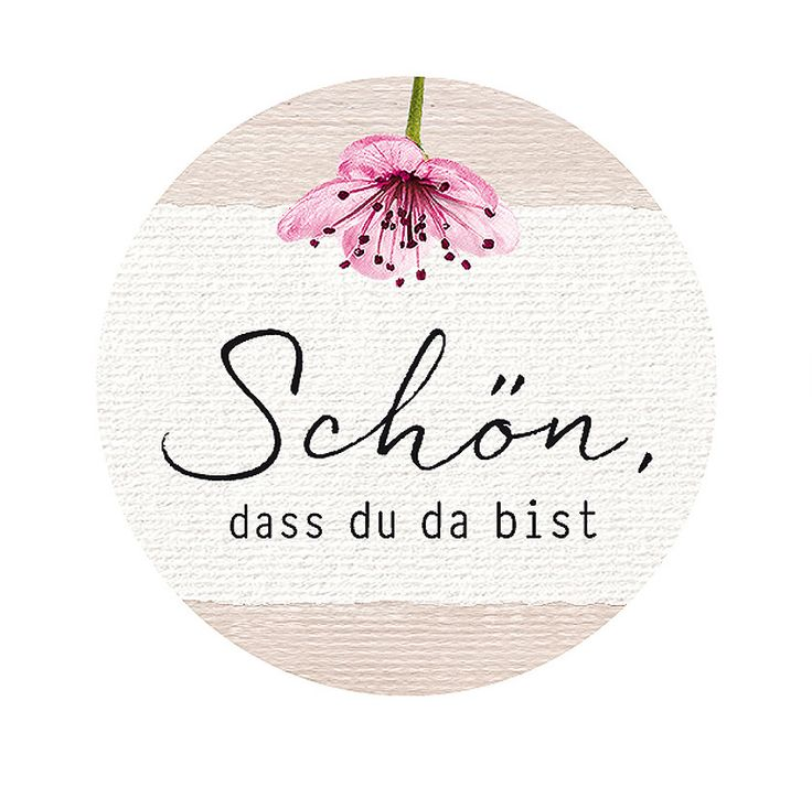 """Sticker """"Nice to have you there"""" CHERRY BLOSSOM  – Hochzeit"""