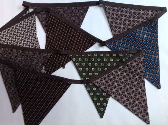 Bunting  2 metres long with 10 double fabric by JustaHobbyHomeware