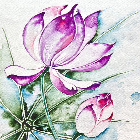 pink white lotus flower bulb freedom space by AnnaHannahArt