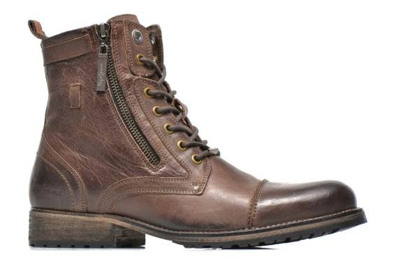 Pepe jeans Melting Zipper (Marron) - Bottines et boots chez Sarenza (229954) (155 euros)