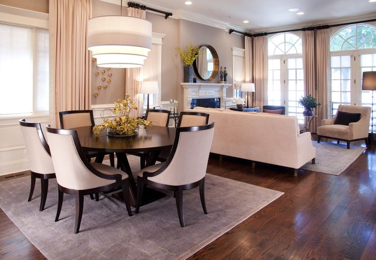 Contemporary Great Room with Arched window, Fireplace, can lights, Paint, Cement fireplace, flush light, Wainscotting
