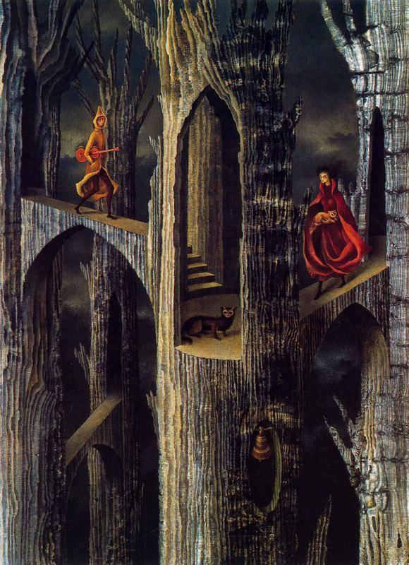 My favorite surrealist - Remedios Varo.  This one reminds me of an Act III scene in The Unseen, when things are really starting to happen in the house.