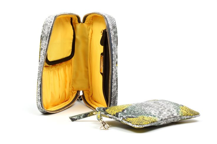 Designer Cosmetic Bags - Bombay Citrine Cosmetic Case - Makeup Bags | Hudson+Bleecker