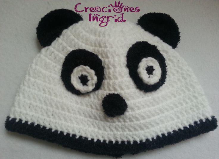 Gorro Oso Panda / Panda Bear Crochet Hat