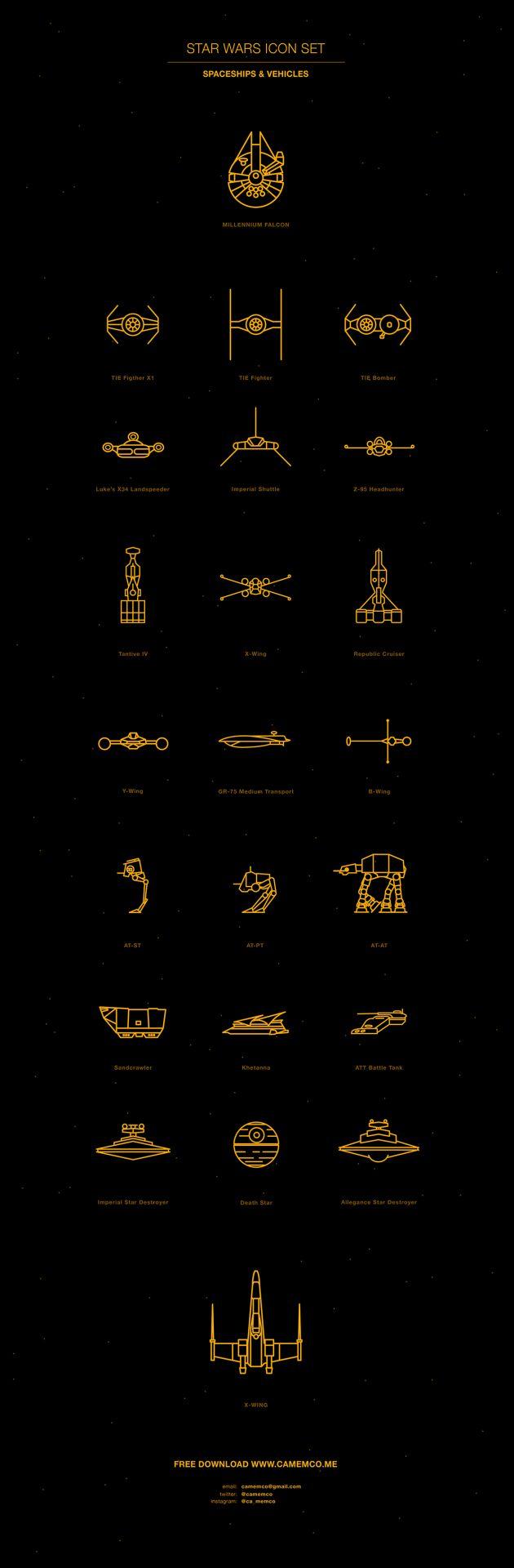 Star Wars Vectors | Carolina Mem Correa de Sa | #ilustração #illustration #artedigital #digitalart #starwars #geek