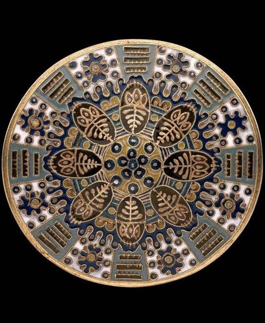 Fabergé. Ladies' belt-buckle. Silver gilt and cloisonné enamel. Work-master Feodor Rückert. 1908 – 1914.