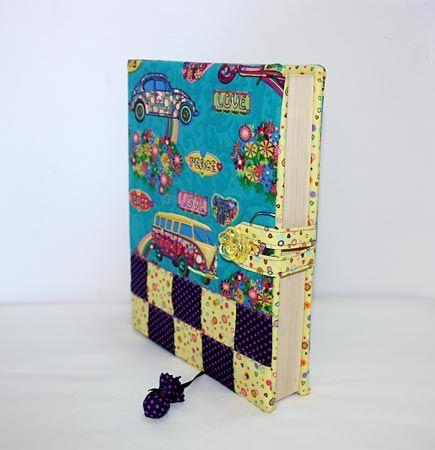 Como fazer capas para livros e agendas decoradas com patchwork   Vila do Artesão