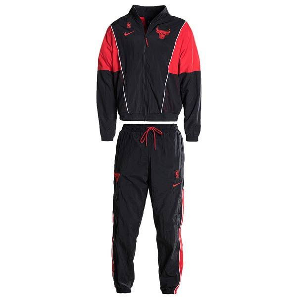 nike NBA CHICAGO BULLS TRACKSUIT COURTSIDE BLACKUNIVERSITY