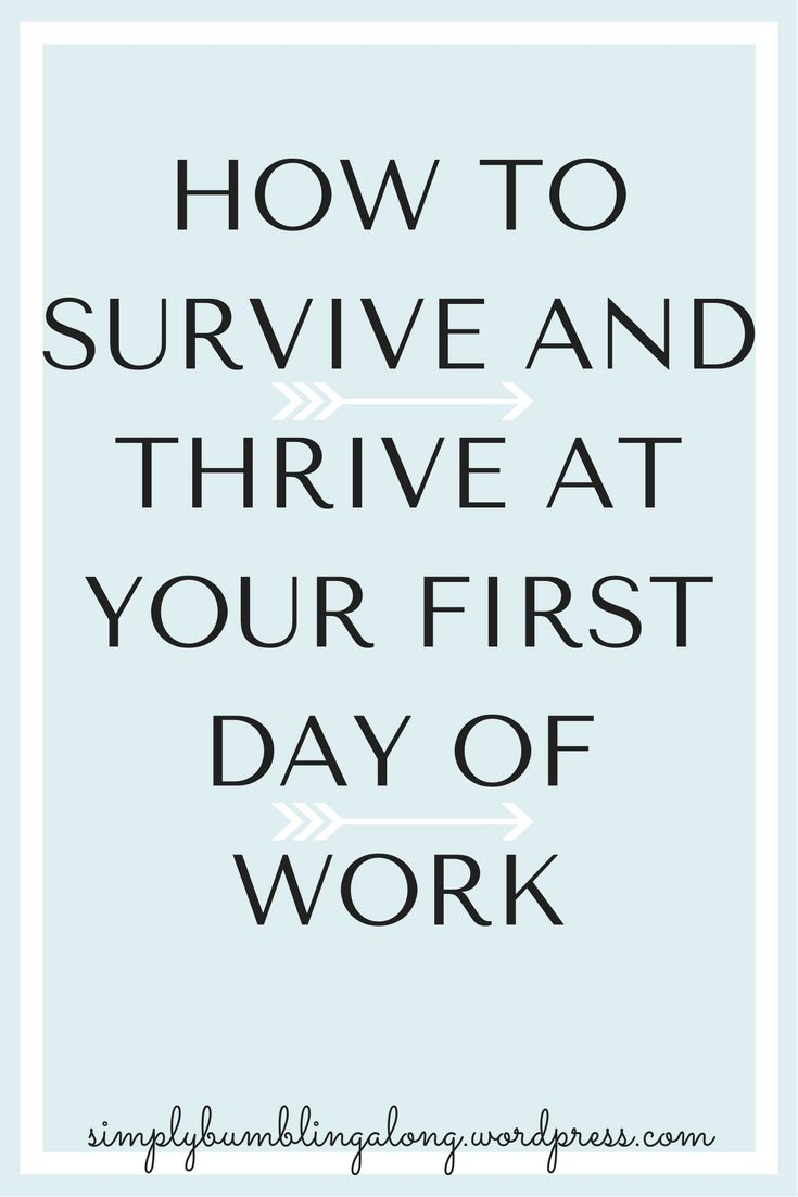 The first day of work at a new job can be scary and nerve-wracking. Read here some tips on what your first day will be like and how to prep for it!