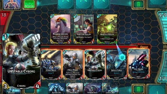 Nova Blitz is a Free-to-play Real-time Trading Card Multiplayer Game featuring unique real-time turn system