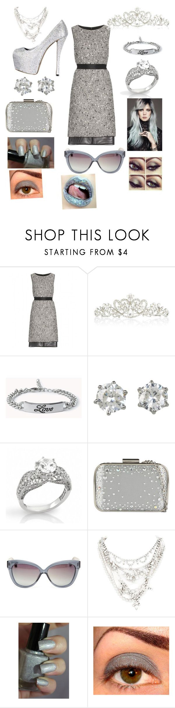 """Silver!"" by harlowe215 ❤ liked on Polyvore featuring Giambattista Valli, Forever New, Forever 21, Juicy Couture, Fantasy Jewelry Box, ALDO, Linda Farrow and Tom Binns"