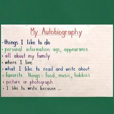 short autobiography example for kids - Google Search