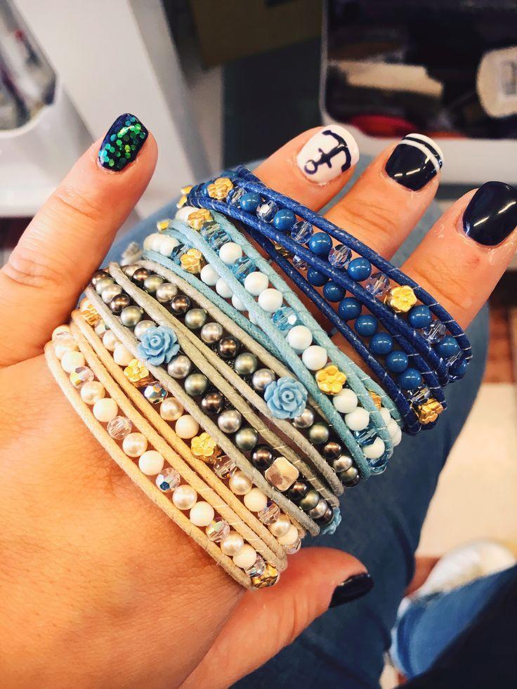 #duepuntihandmade #handmade #handmadewithlove #withlove #diy #doityourself #bracelets #chanluustyle #chanluuinspired #pearls #beige #blu #flowers #summer #sun #colors #vogliadivacanza #holydays #waitingholidays #fryday #july #weekend