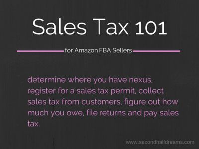 Sales Tax 101 for Amazon FBA Sellers: