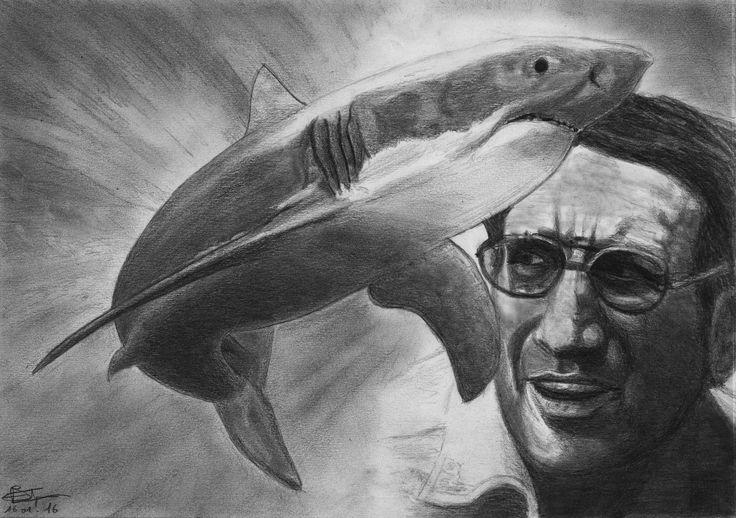Les dents de la mer, Roy Scheider Format A4 Critérium mine 0.5 HB