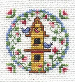 "Bucilla ® Counted Cross Stitch - Beginner Stitchery - Mini - Birdhouse    Size: 2"" x 2"""