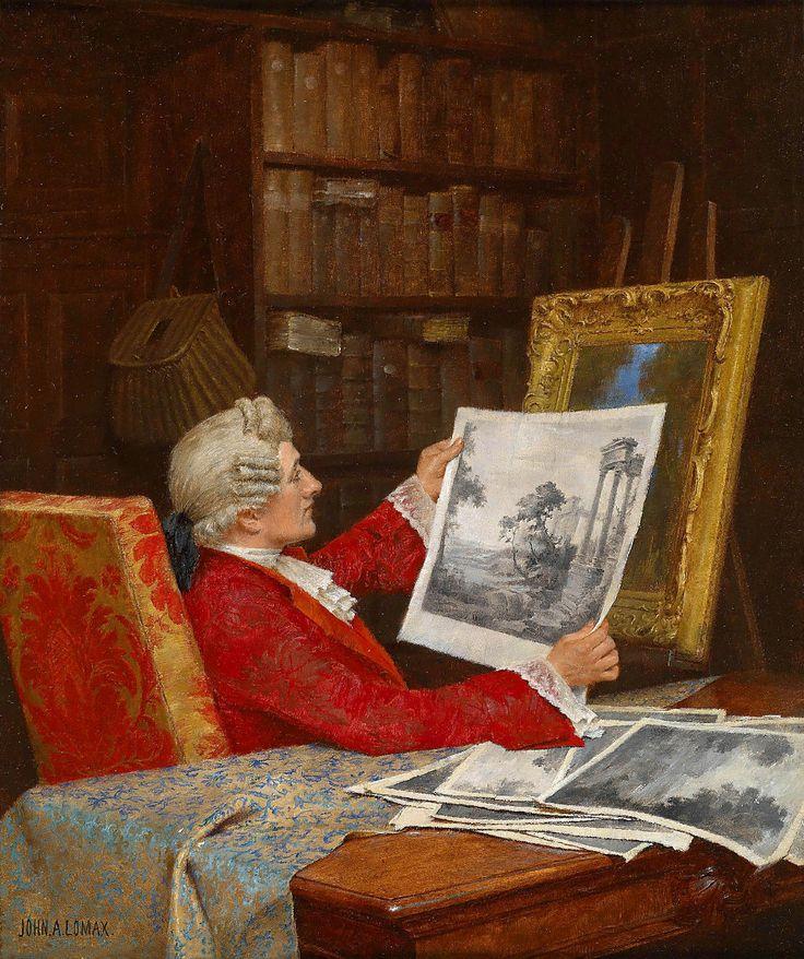 John Arthur Lomax(1857-1923) —  The Art Lover (1019×1216):