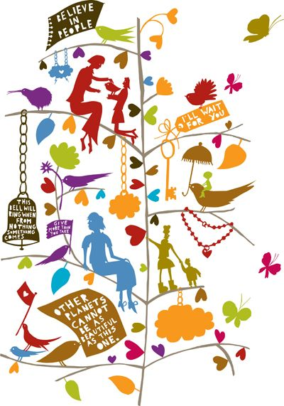 I am just in love with Rob Ryan illustrations