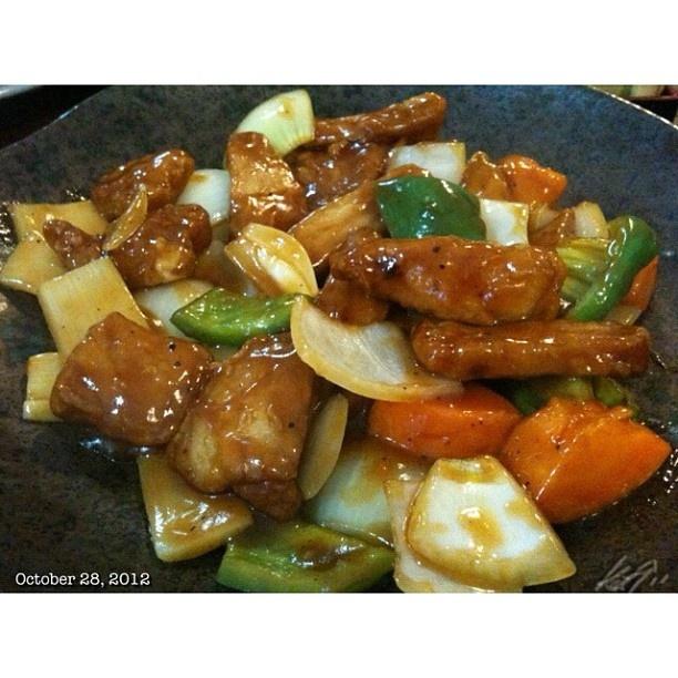 #酢豚 at #居酒屋 螢 #subuta#porkandsour#izakaya#japanese #food #dinner #philippines #フィリピン