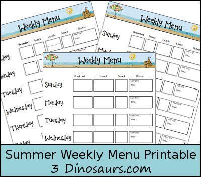 Best 25+ Weekly menu printable ideas on Pinterest Weekly meal - menu for the week template