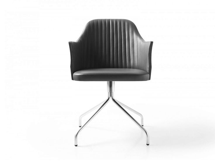 Leather chair with armrests BREAK 1643 Break Collection by Bross Italia design Enzo Berti