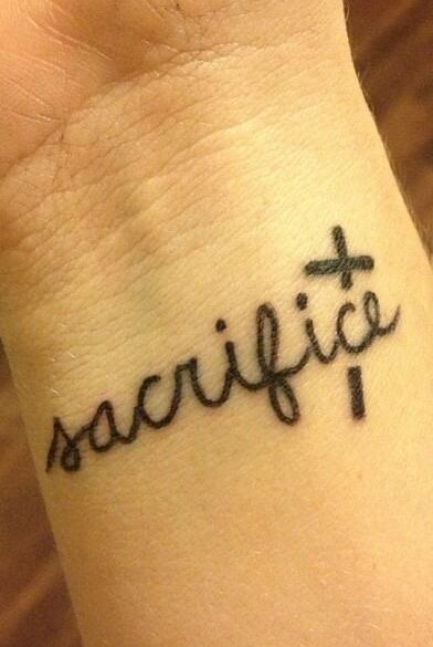Wrist tattoo sacrifice tattoo only love pinterest for Is a d ointment good for new tattoos