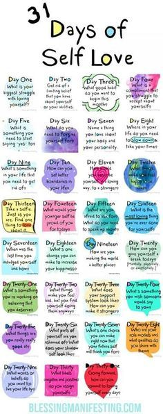 30 days of self-love