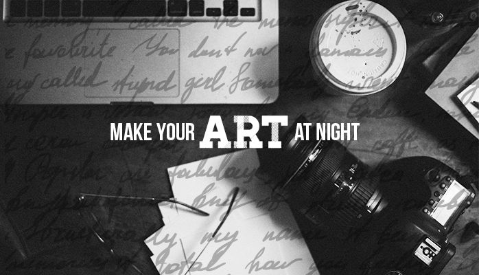 Make Your Art at Night by Jacqueline Zaccor - for designers & creators alike.