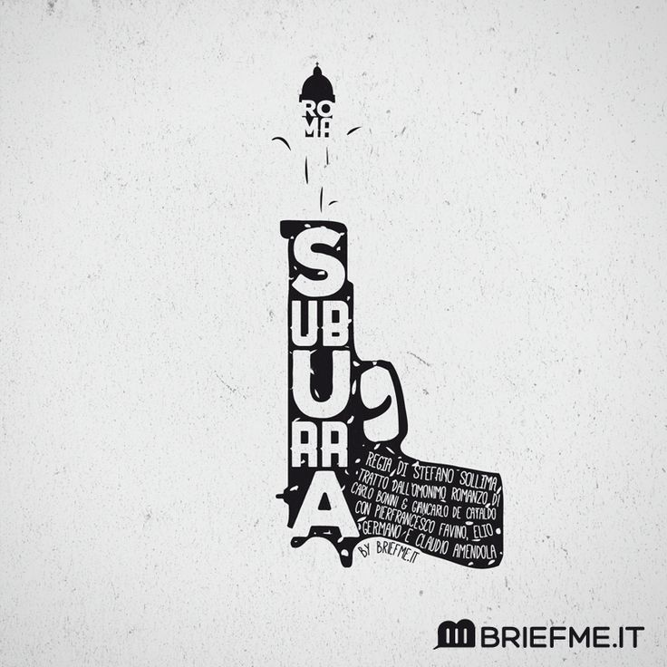 BriefMe | #Typography Ispirata al nuovo film di #stefanosollima su Mafia Capitale, #Suburra, l'illustrazione di Sara Sicuro, Creative Director di BriefMe. #briefmeit #lettering #graphic #design #roma #rome #magiacapitale #brand #gun #movie #cattleya #netflix #01distribution #raicinema #illustration