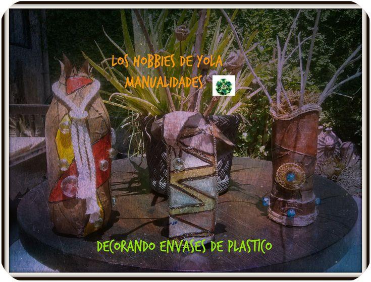 Decorando envases de plástico / Decorating plastic bottles