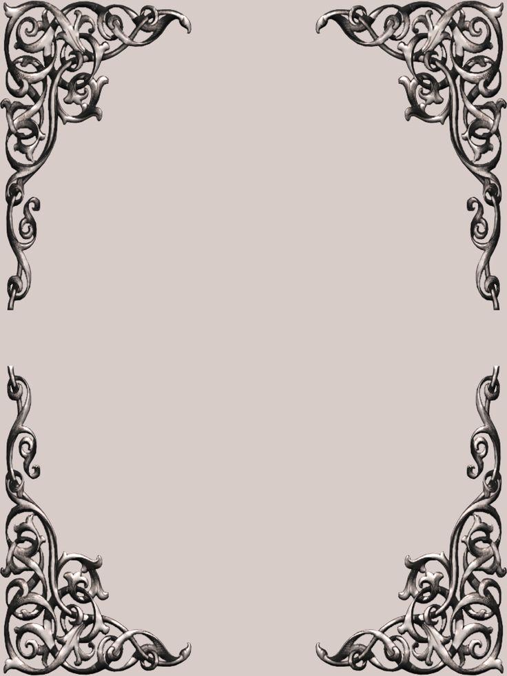 Th Fancy Corner Scroll Frame Set Png 768 215 1024 Scrapbook Ideas And Cards Pinterest