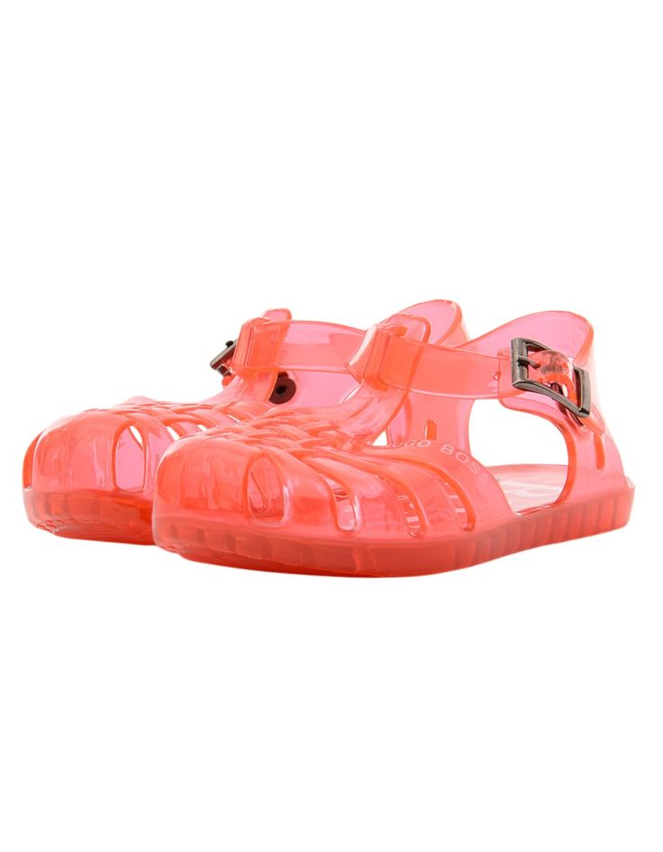 JUNIORS Boss Red Logo Jelly Shoes | Accent Clothing