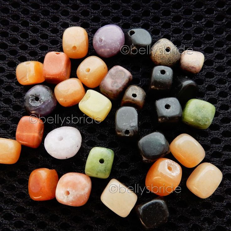 30 Mixed Natural Loose Gemstone Crystal Jewellery Making Nugget Beads 6mm - 10mm #Unbranded