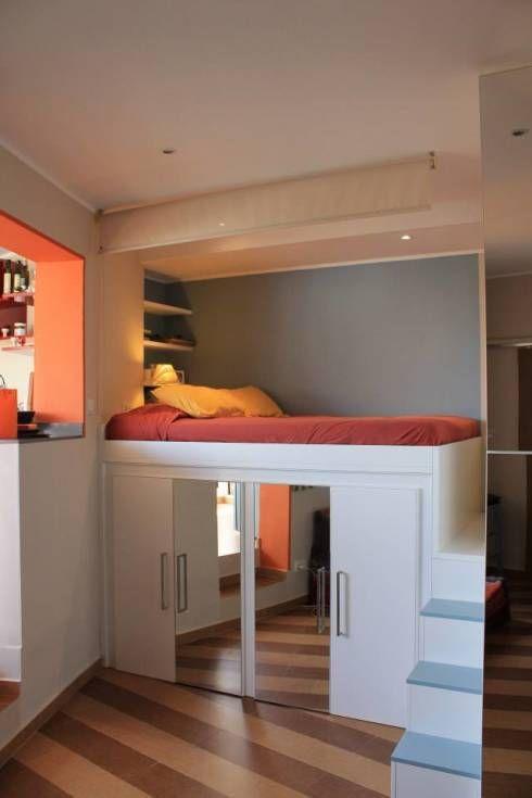 17 mejores ideas sobre peque as habitaciones de hu spedes - Diseno de habitaciones pequenas ...