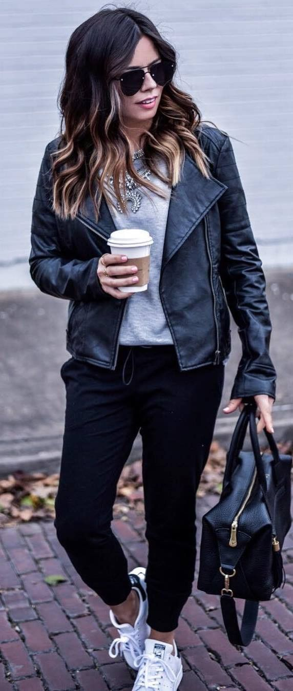 How to Wear a Leather Jacket  30 Outfits You Haven t Thought of Yet ... d4fab22c7