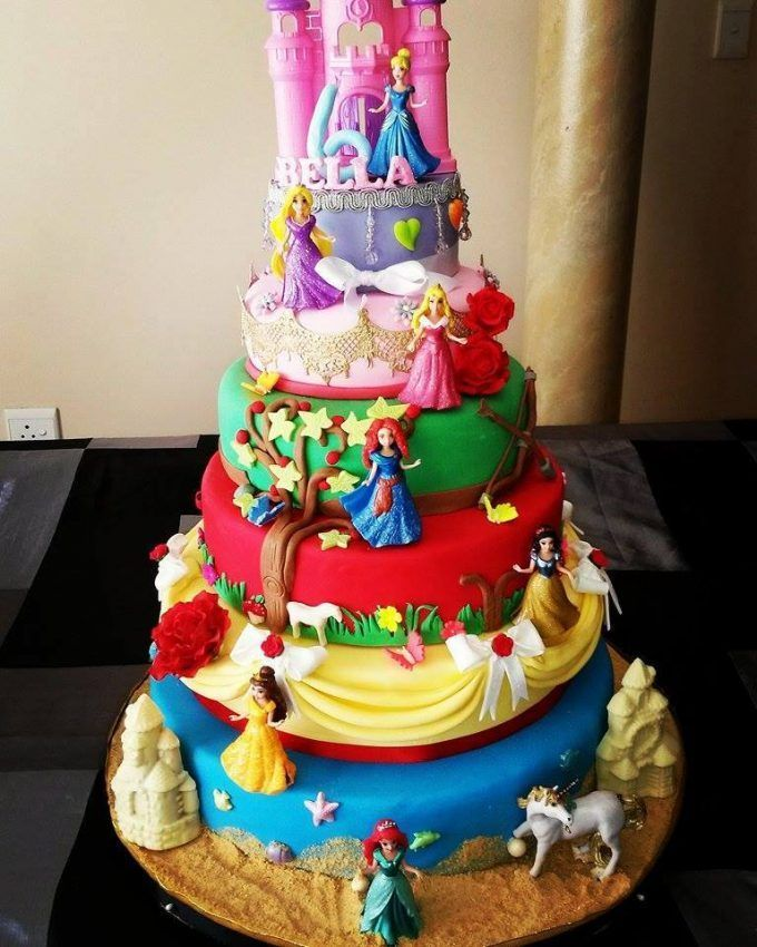 Disney Princess Cake...these are the BEST Cake Ideas!