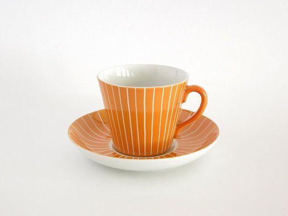 Sweden Upsala-Ekeby Gefle Zenit Cup and Saucer at Eight Mile Vintage on Etsy