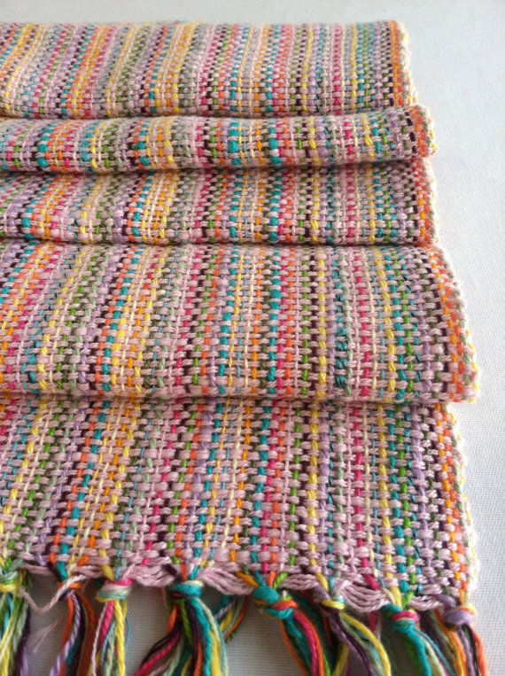 Woven Scarf Pink Cotton