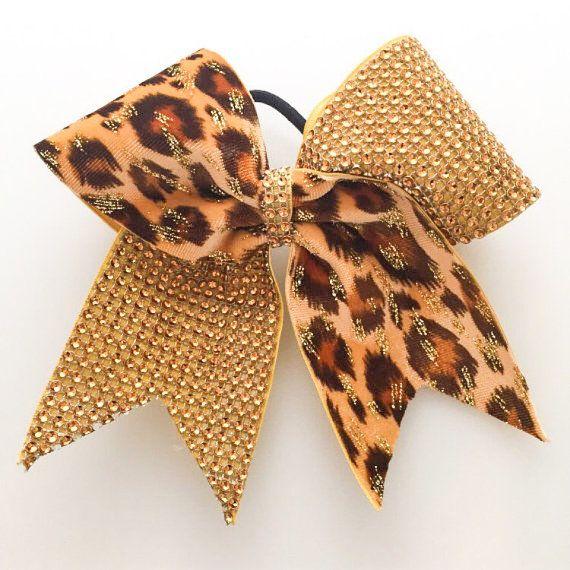 Gold Cheer Bow - Bling Cheer Bows - Cheerleading Gifts - Cheer Gifts - Hair Bows - Softball Bows - Senior Cheer Gifts - Cheerleading Senior #ad