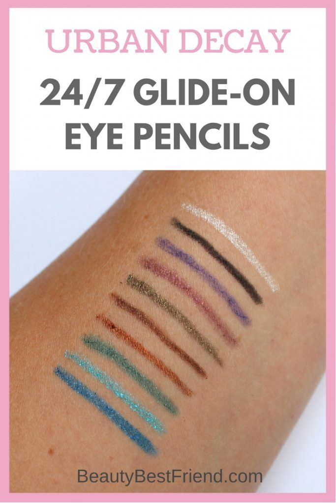 Urban Decay 247 Glide On Eye Pencils are THE must-have eye pencil. They're amazing quality, highly pigmented and there are over 40 shades to choose from!  eye pencil   urban decay   make up   eye liner   review   reviews   24/7 glide on eye pencil