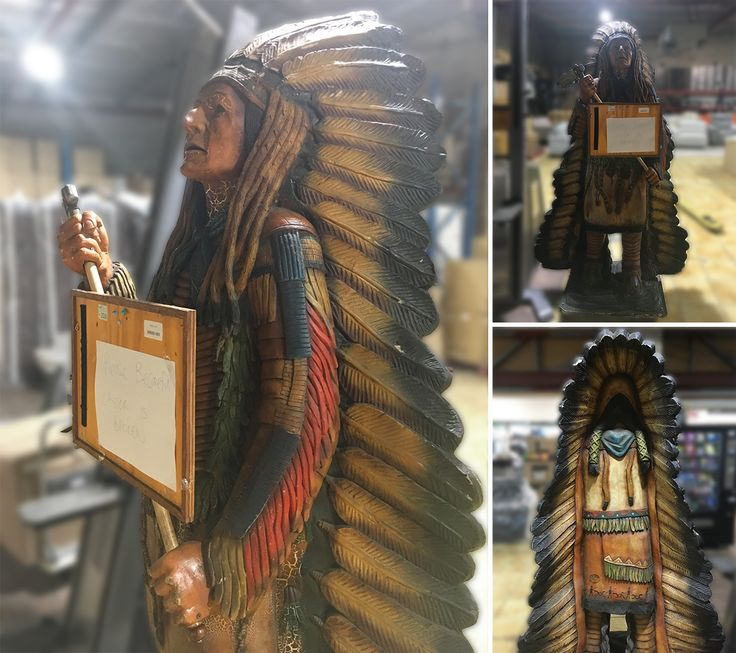 This HUGE fiberglass Indian statue stands at approximately 207cms tall and is in this weekend's Super Sunday Online Auction!  Come in to inspect this weekend between 8:00 am - 5:00 pm and make your bid online ➡️