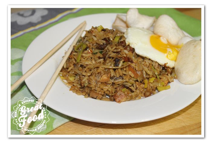 "Rijsttafel is a Dutch word for an Indonesian-style banquet. The word ""rijsttafel"" means ""rice table,"". Nasi Goreng is the basic for a ""rijst tafel"" you can add several dishes to this dish, like sate, kroepoek, a fried egg, atjar tjampoer, pisang goreng, gado gado, Sambal telur."