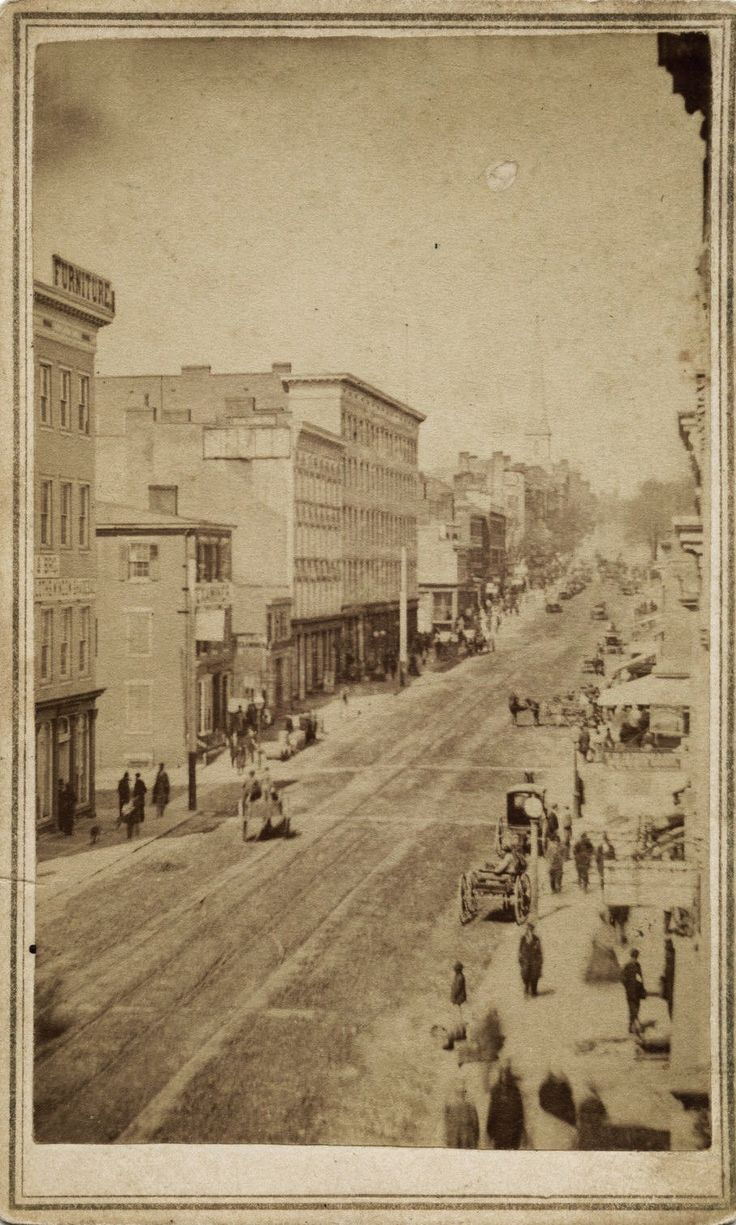1860's Street Scene, Richmond Virginia By Selden & Ennis