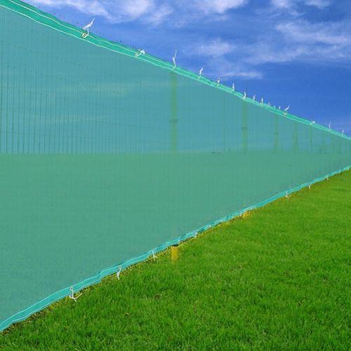 6 39 x50 39 fence screen cover mesh green windscreen fabric for Garden screening fabric