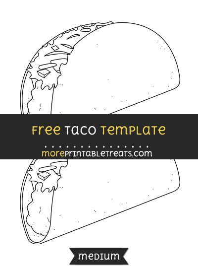 free taco template medium shapes and templates printables