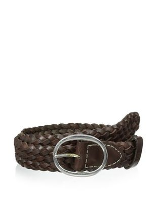53% OFF Ben Sherman Men's Plectrum Woven Leather Belt (Chocolate)