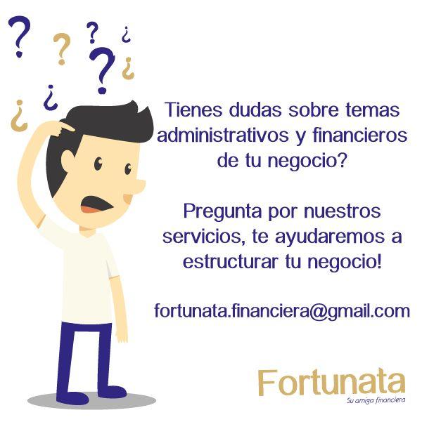 Pregúntale a Fortunata! Acompañamos tu proceso para estructurar tu negocio #consultorías #finanzas #asesor #preguntas #negocios #emprendimiento #emprendedores