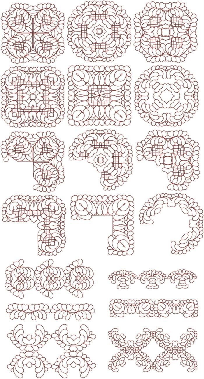 Advanced Embroidery Designs - Feather Quilt Set