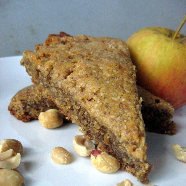 Peanut Apple Scones (grain-free, vegan)